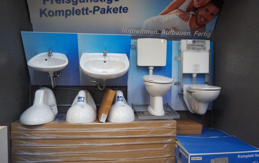 Bad & Sanitärabteilung im bauSpezi Burgdorf