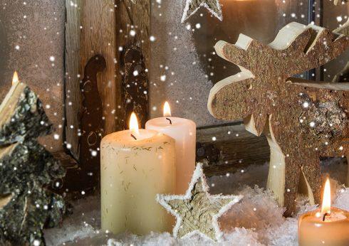 Weihnachtsdeko in Burgdorf